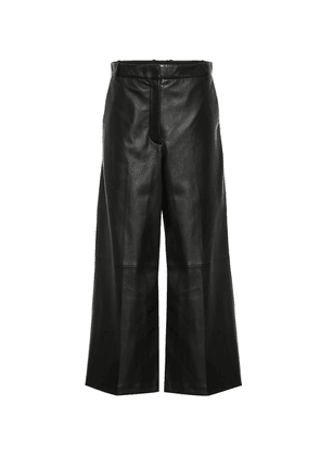 Tuba wide-leg leather pants