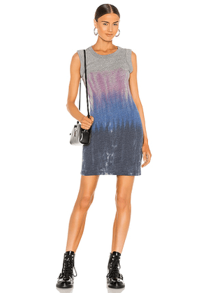 Chaser Triblend Jersey Rolled Armhole Tank Dress in Grey. Size S, XS, M.
