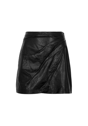 Free People Fake Out Black Faux Leather Mini Skirt