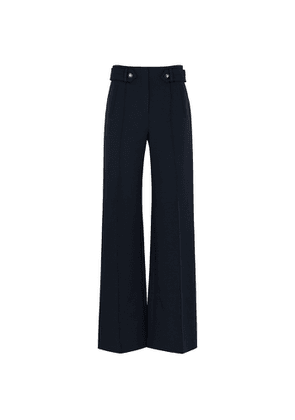 Veronica Beard Roshni Navy Wide-leg Trousers