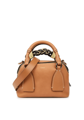 Chloé Daria Small Brown Leather Top Handle Bag