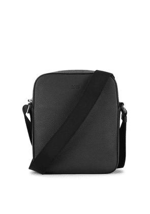 BOSS Crosstown Black Leather Cross-body Bag