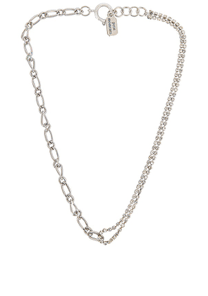 petit moments Elise Necklace in Metallic Silver.