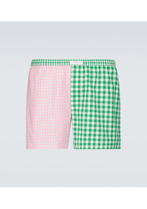 Wide striped boxer shorts