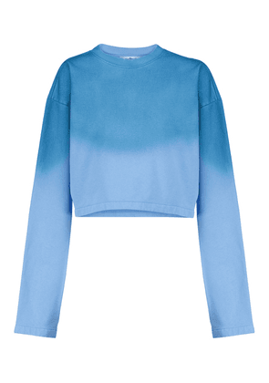 Cropped cotton sweatshirt