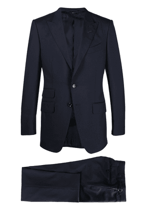TOM FORD peak-lapel single-breasted trouser suit - Blue