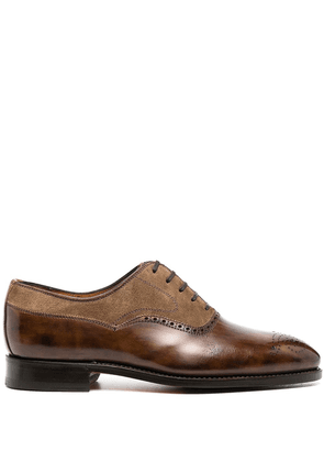 Bontoni polished oxford shoes - Brown