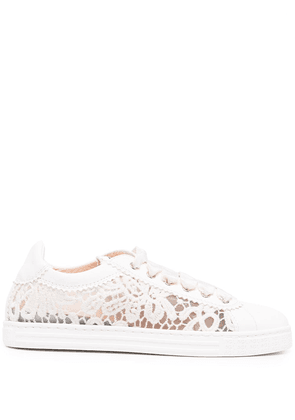 AGL lace low-top sneakers - White