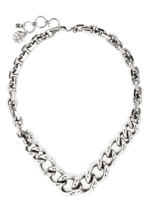 Alexander McQueen chunky curb chain necklace - Silver