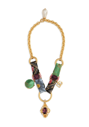 Dolce & Gabbana crystal embellished chain necklace - Gold