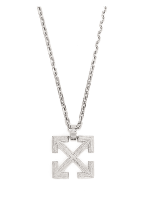 Off-White Arrows pendant necklace - Silver