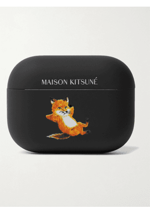 MAISON KITSUNÉ - Native Union Logo-Print PVC-Blend AirPods Pro Case - Men - Black