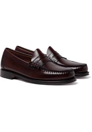 G.H. Bass & Co. - Weejun Heritage Larson Moc Leather Loafers - Men - Burgundy