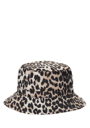 Leopard Print Recycled Tech Bucket Hat