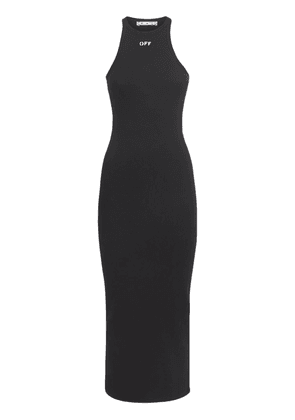 Ribbed Jersey Rowing Long Dress
