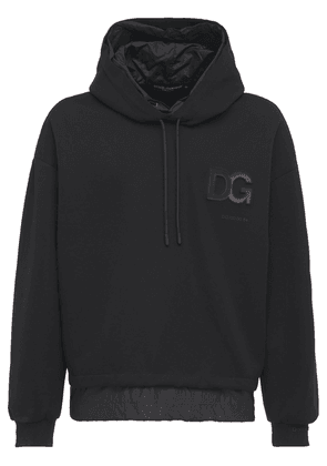 Embossed Logo Cotton & Nylon Hoodie