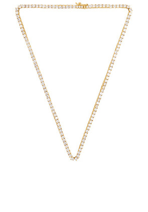 Luv AJ The Ballier Necklace in Metallic Gold.