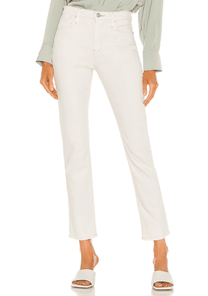 Hudson Jeans Holly High Rise Straight in White. Size 24, 25, 26, 27, 28, 29.