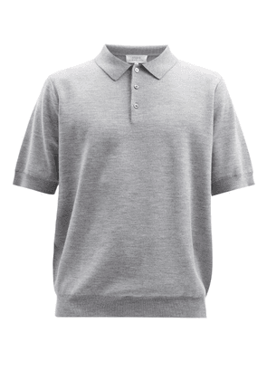 Studio Nicholson - Merino Wool-blend Jersey Polo Shirt - Mens - Grey