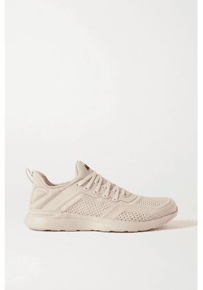 APL Athletic Propulsion Labs - Techloom Tracer Mesh And Neoprene Sneakers - Cream