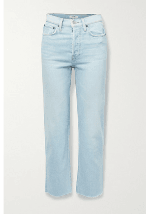 RE/DONE - + Net Sustain 70s Stove Pipe Comfort Stretch High-rise Straight-leg Jeans - Light denim