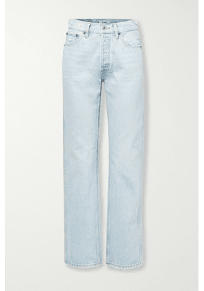 RE/DONE - 90s Distressed High-rise Straight-leg Jeans - Light denim