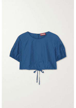 STAUD - Prato Cropped Recycled Shell Top - Blue