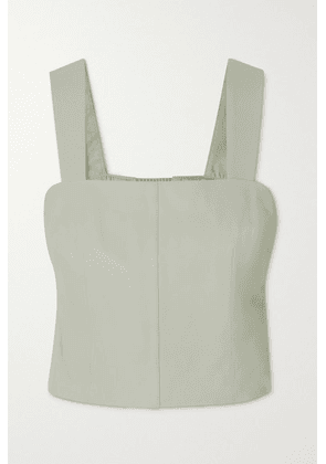 Vince - Cropped Leather Tank - Ivory