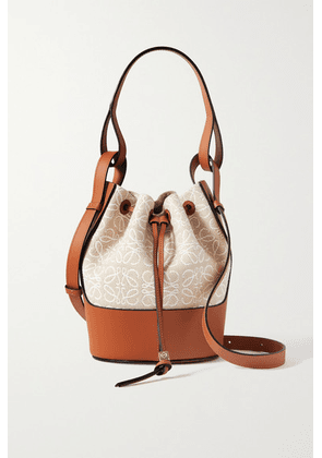 Loewe - Balloon Small Cotton-canvas And Leather Bucket Bag - Tan