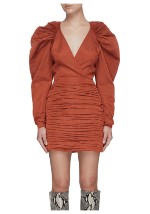 'Emanate' Ruch Detail Puff Sleeve Bodycon Dress