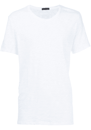 Atm Anthony Thomas Melillo Slub Jersey Crew Neck Tee - White