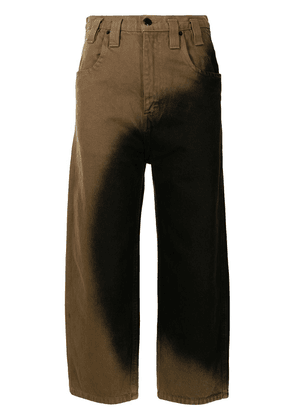 Eckhaus Latta Circle Stain-wash straight jeans - Brown