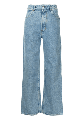 Eckhaus Latta high-waist wide-leg jeans - Blue