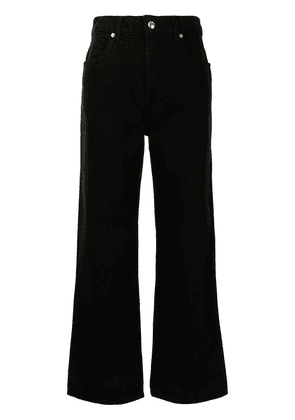 Eckhaus Latta high-waist wide-leg jeans - Black