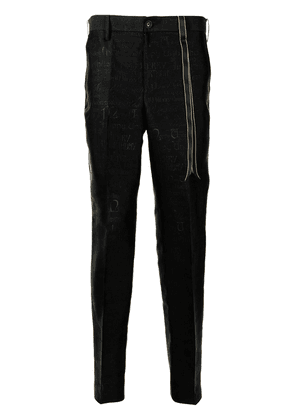 Doublet mid-rise jacquard tapered trousers - Black