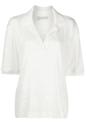 In The Mood For Love oversized polo shirt - White