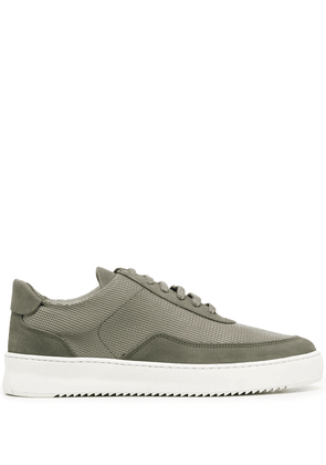 Filling Pieces leather lace-up trainers - Green