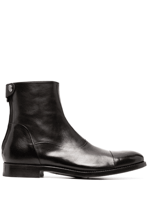 Alberto Fasciani rear zip leather boots - Black