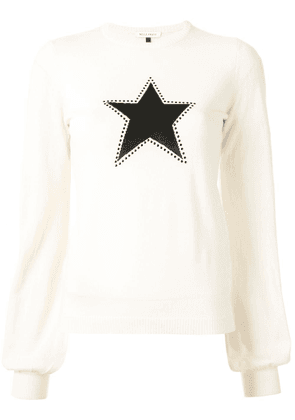 Bella Freud Texas Star billowing sleeve jumper - White