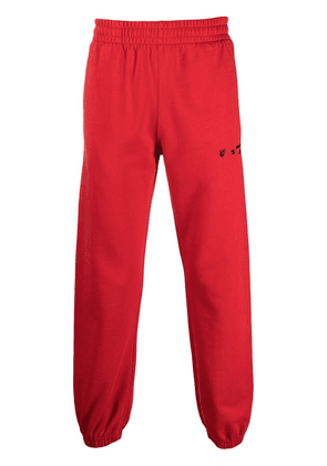 Off-White logo-print track pants - Red