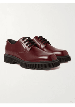 GUCCI - Mystras Leather Derby Shoes - Men - Burgundy
