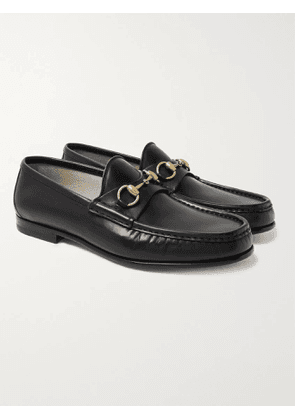 GUCCI - Roos Horsebit Leather Loafers - Men - Black