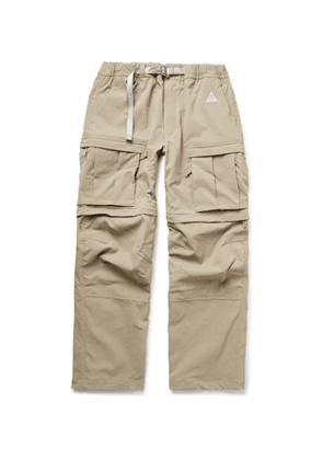 NIKE - ACG Smith Summit Belted Nylon-Blend Cargo Trousers - Men - Neutrals