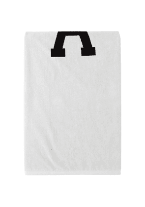AMI Alexandre Mattiussi Reversible Off-White and Black Ami De Coeur Beach Towel