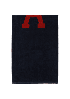 AMI Alexandre Mattiussi Reversible Navy and Red Ami De Coeur Beach Towel