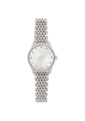 Gucci Silver 29mm G-Timeless Bee Watch
