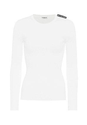 Technical ribbed-knit top