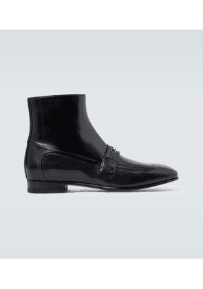 Horsebit leather ankle boots