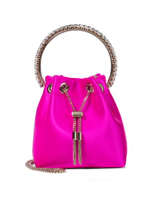 Bon Bon embellished satin bucket bag