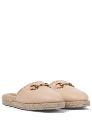 Fria shearling-lined leather slippers